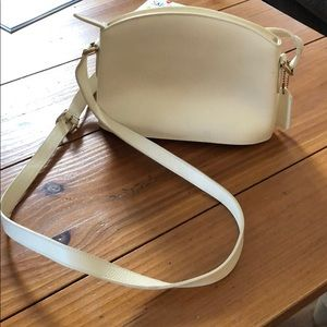 COACH mini cream shoulder bag